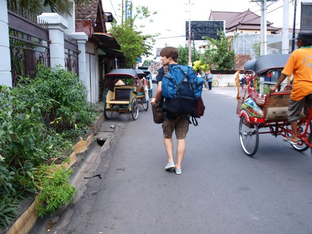 Backpacker in Yogya